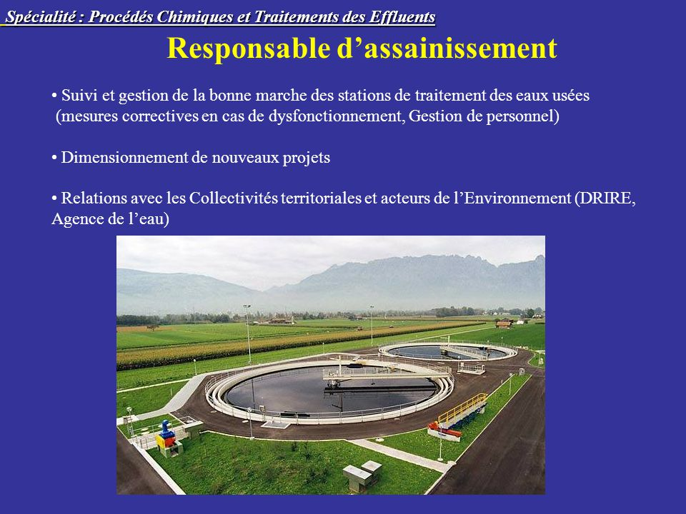 Responsable d'assainissement