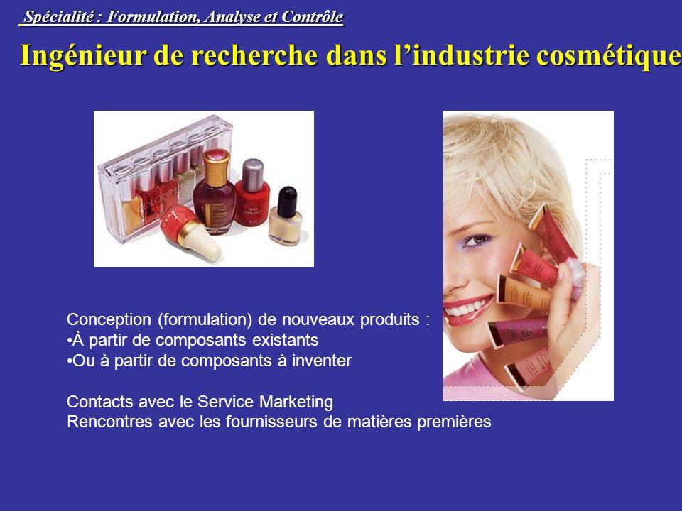 Ingénieur de recherche dans l'industrie cosmétique