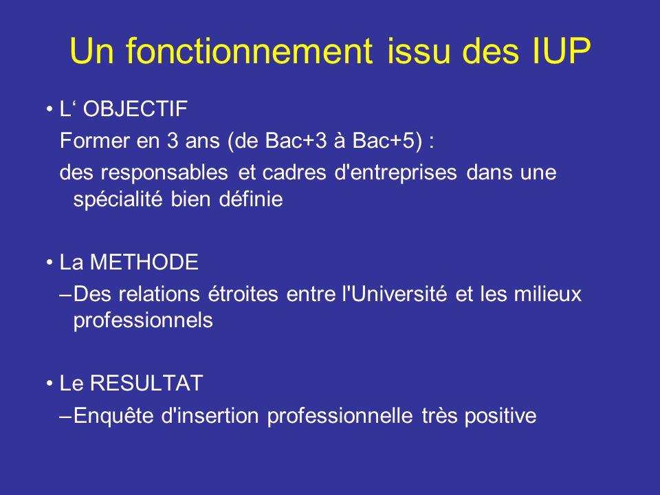 Un fonctionnement issu des IUP
