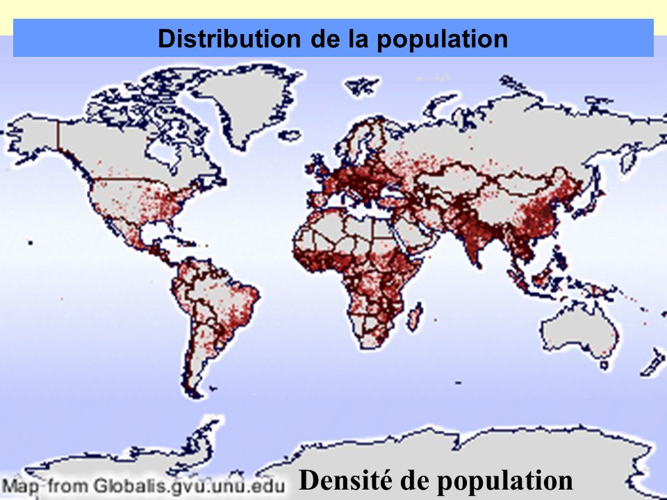 Distribution de la population