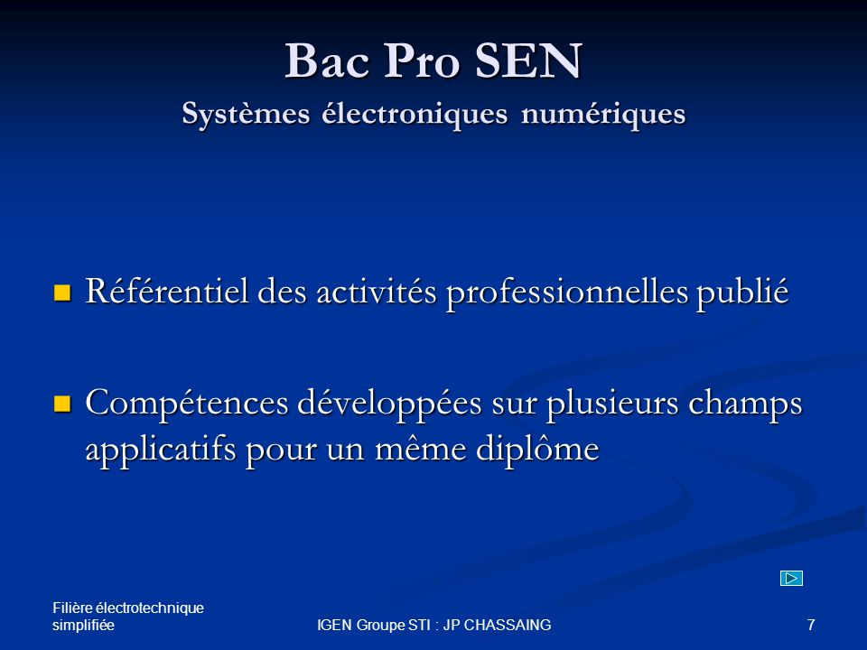 Bac Pro SEN Systèmes électroniques numériques