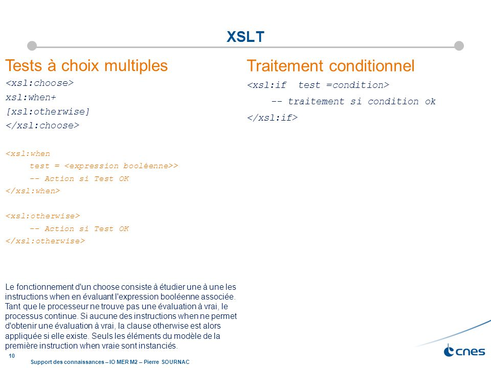 Tests à choix multiples Traitement conditionnel