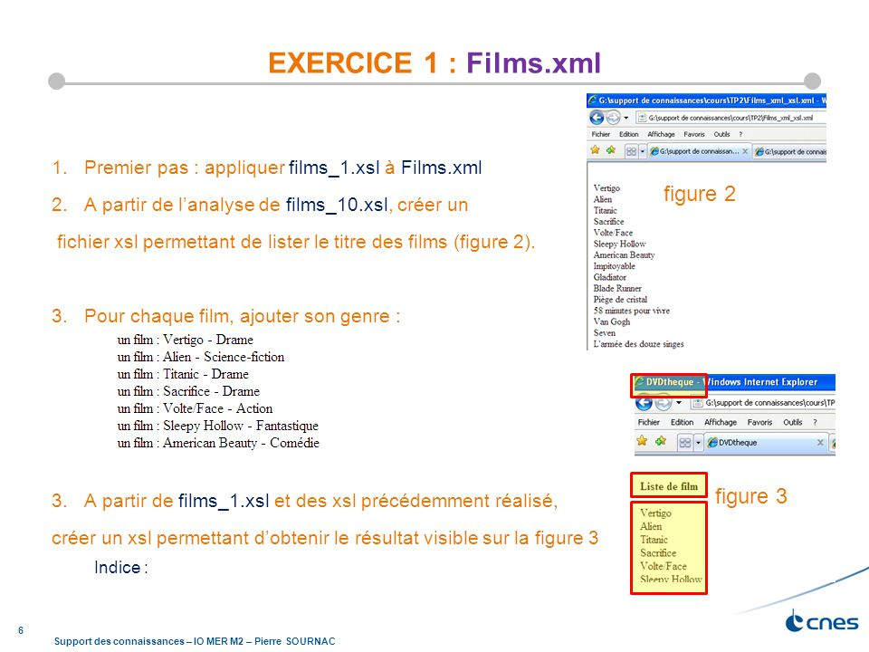 EXERCICE 1 : Films.xml figure 2 figure 3