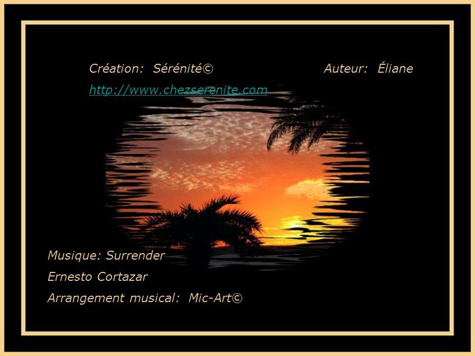Création: Sérénité© http://www.chezserenite.com. Auteur: Éliane. Musique: Surrender. Ernesto Cortazar.