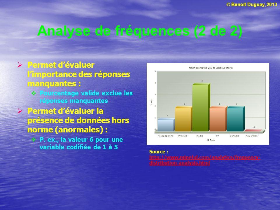 Analyse de fréquences (2 de 2)