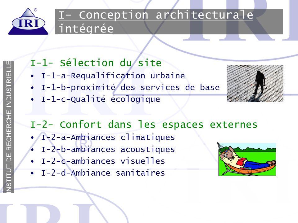 I- Conception architecturale intégrée