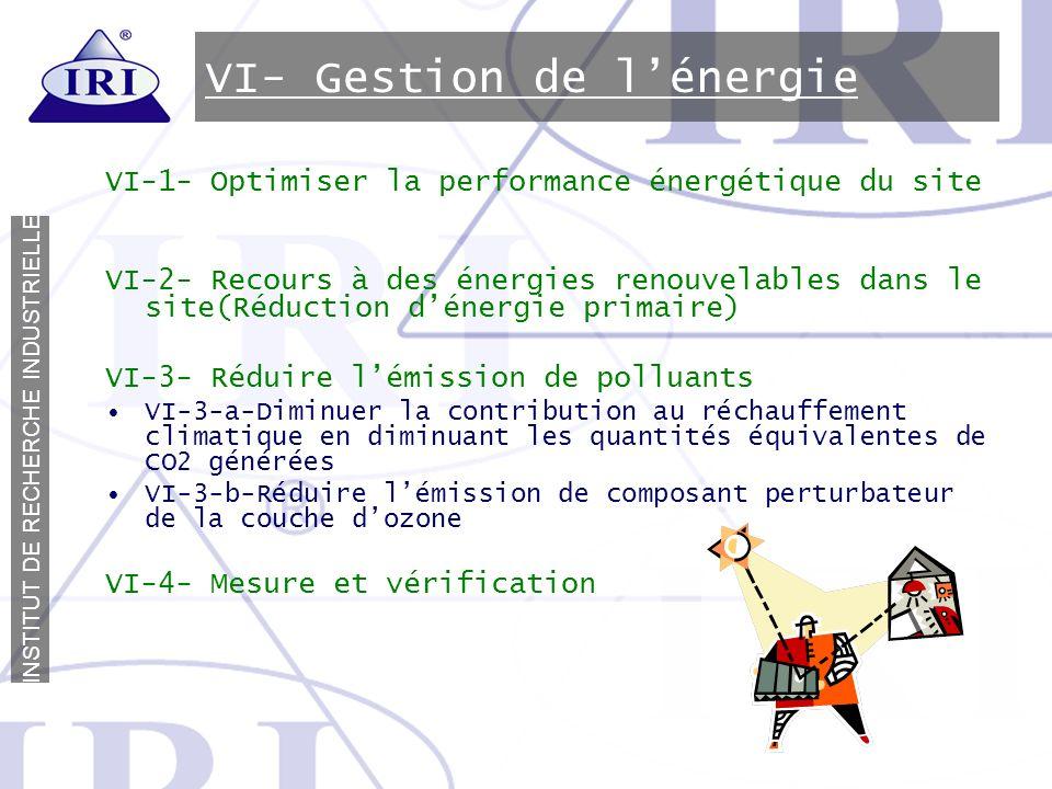 VI- Gestion de l'énergie