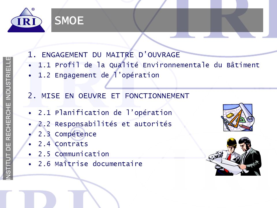 SMOE 1. ENGAGEMENT DU MAITRE D OUVRAGE
