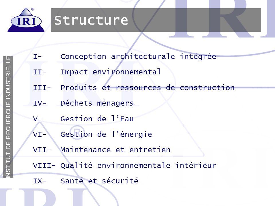 Structure I- Conception architecturale intégrée