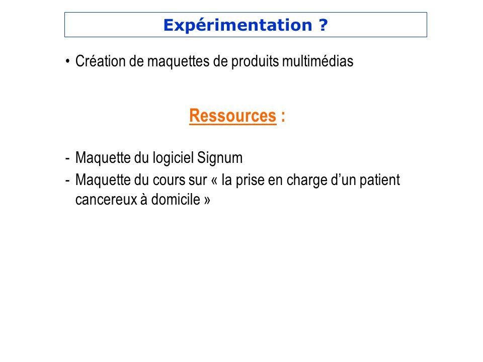 Ressources : Expérimentation
