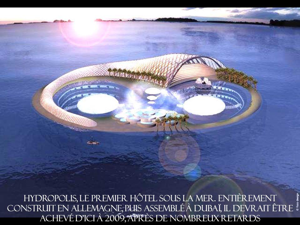 Hydropolis, le premier hôtel sous la mer