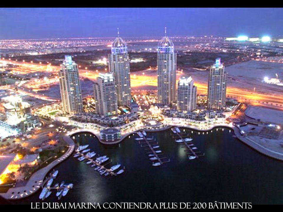 Le Dubai Marina contiendra plus de 200 bâtiments