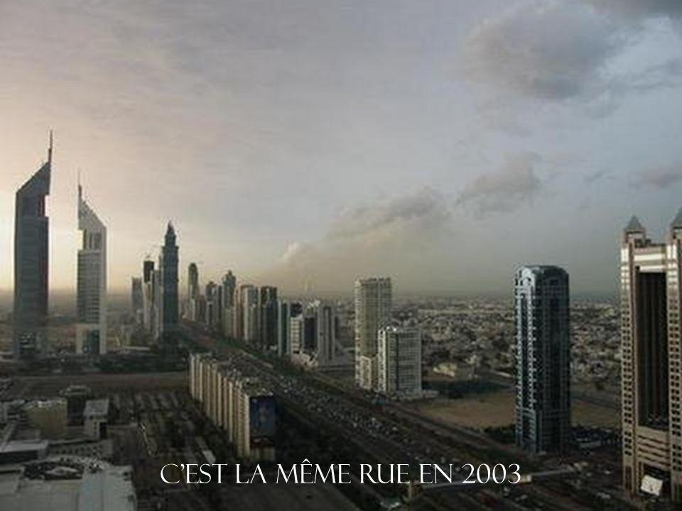 C est la même rue en 2003