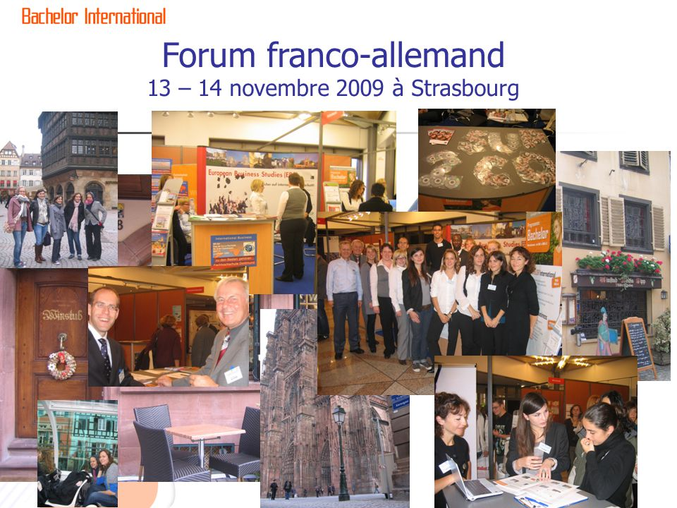 Forum franco-allemand 13 – 14 novembre 2009 à Strasbourg