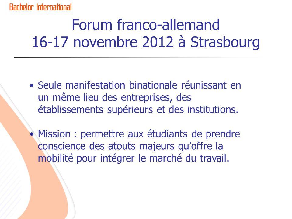 Forum franco-allemand 16-17 novembre 2012 à Strasbourg