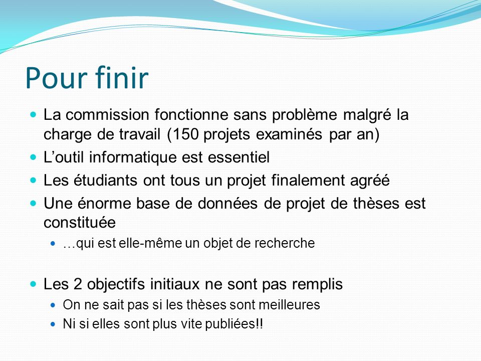 Evaluation des projets de th ses dans un d partement de - Bureau de change a paris sans commission ...