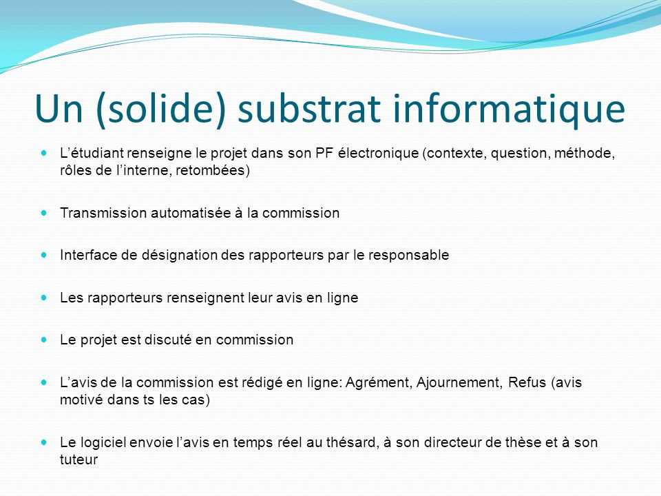 Un (solide) substrat informatique