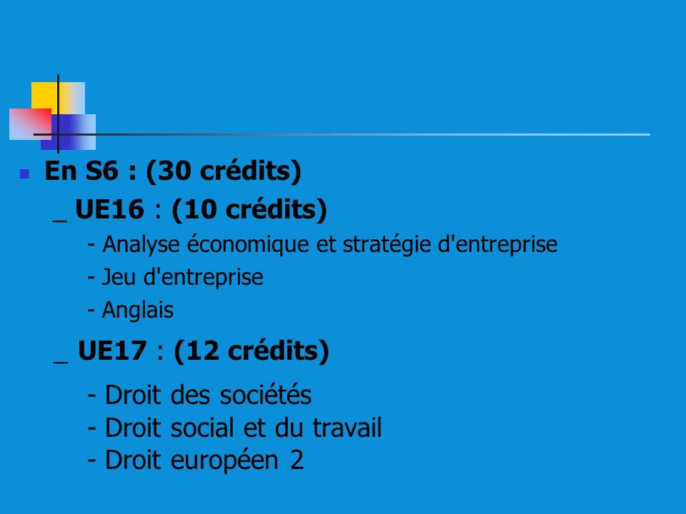 - Droit des sociétés - Droit social et du travail - Droit européen 2