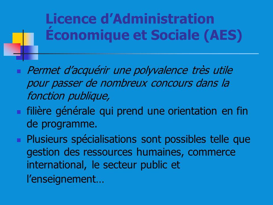 Licence d'Administration Économique et Sociale (AES)