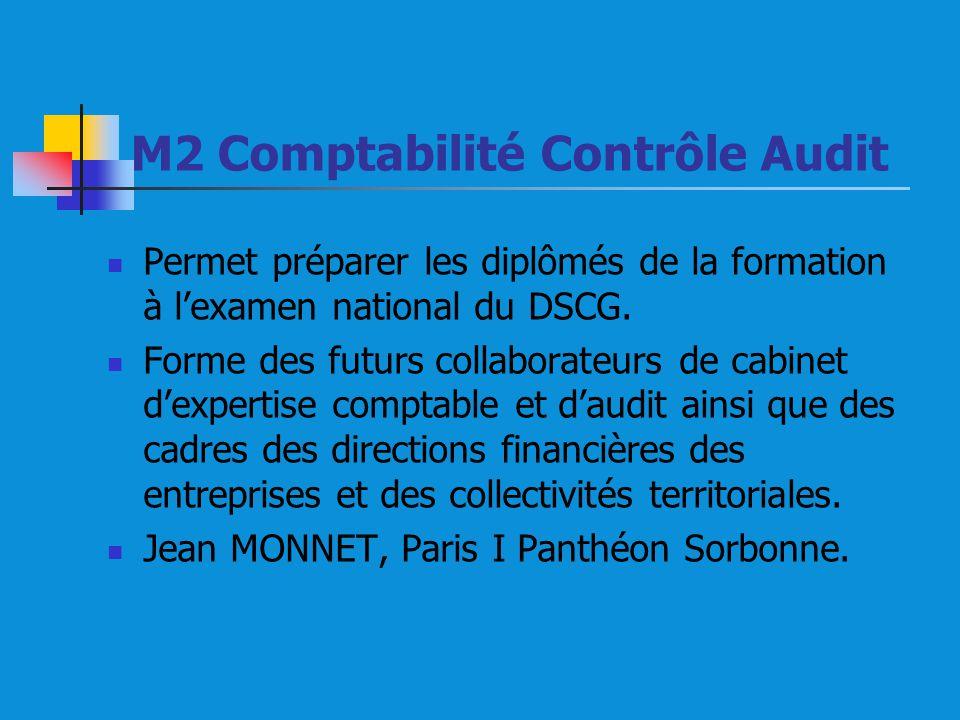 M2 Comptabilité Contrôle Audit