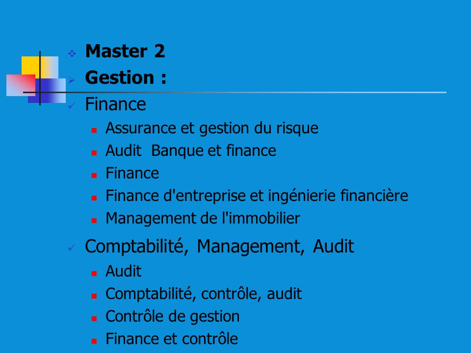 Comptabilité, Management, Audit