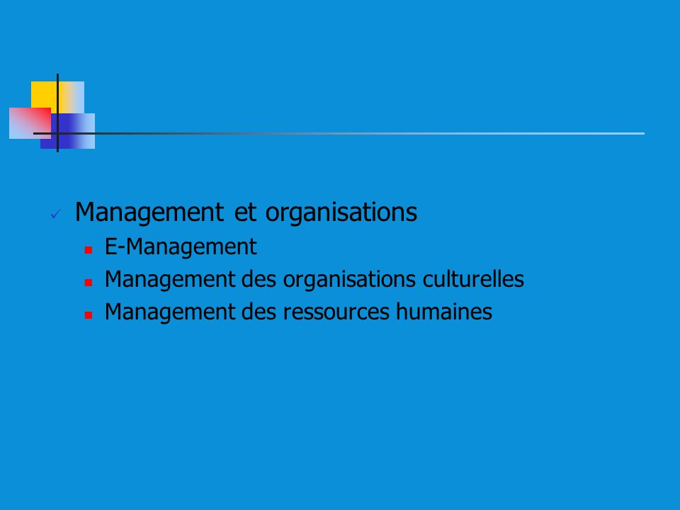 Management et organisations