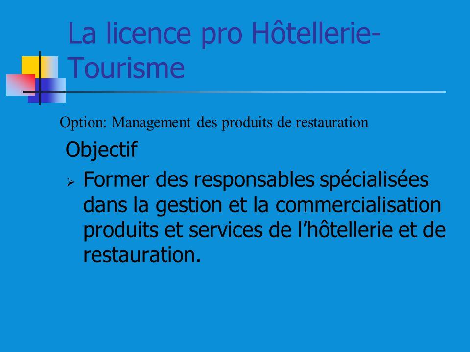 La licence pro Hôtellerie-Tourisme