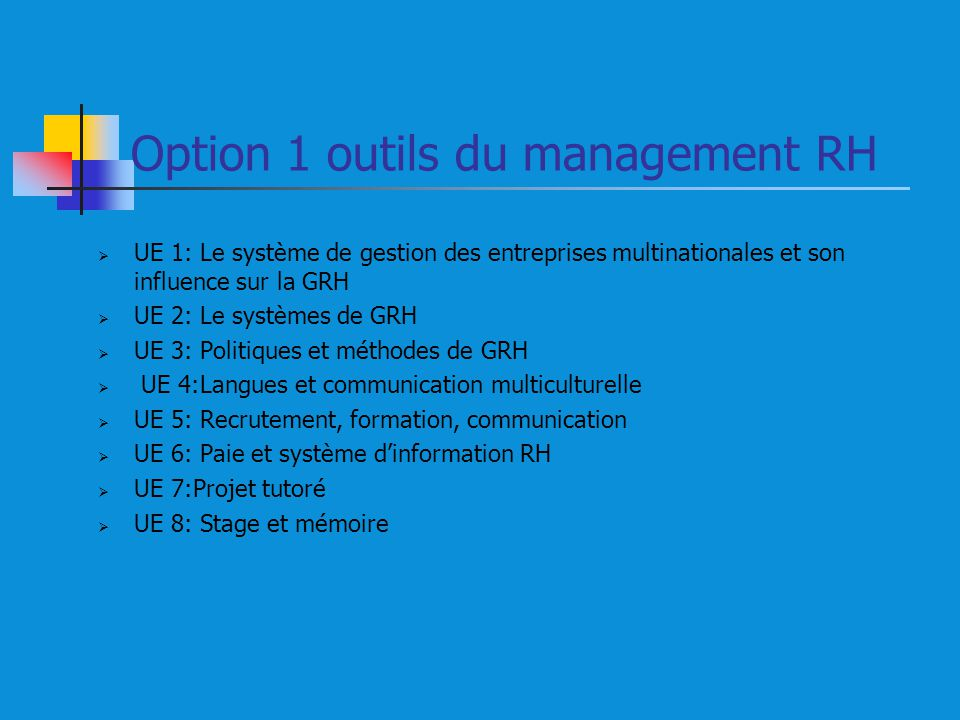 Option 1 outils du management RH