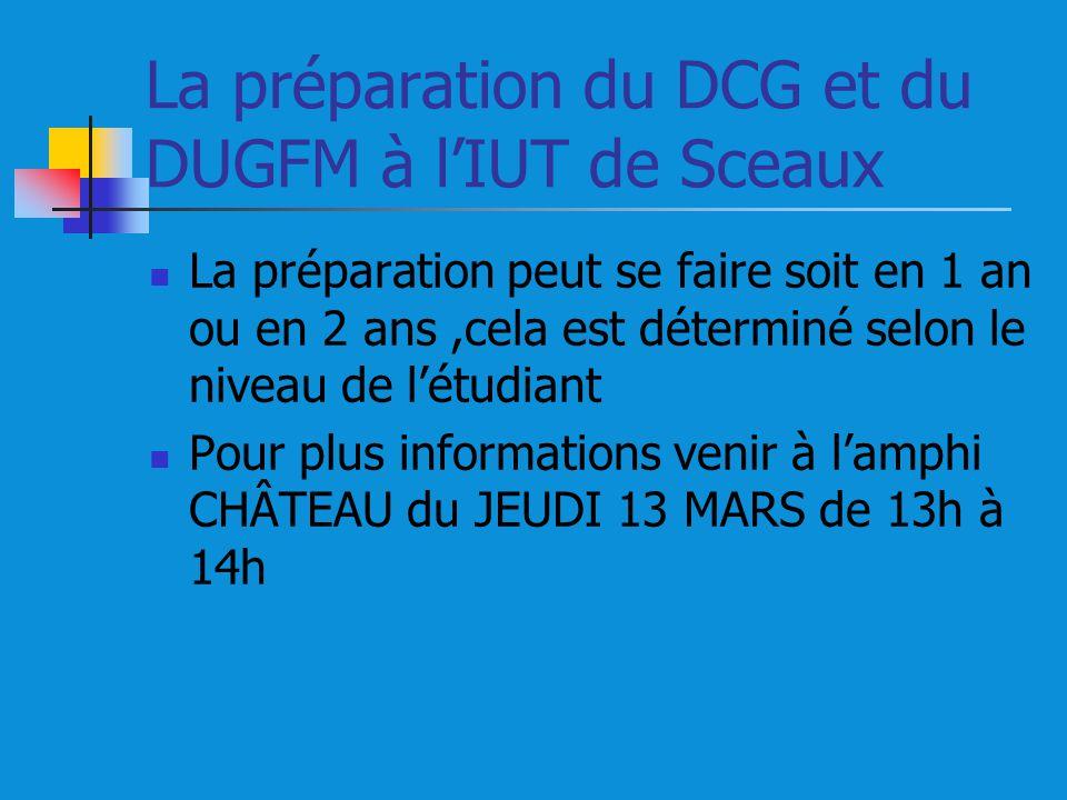 La préparation du DCG et du DUGFM à l'IUT de Sceaux