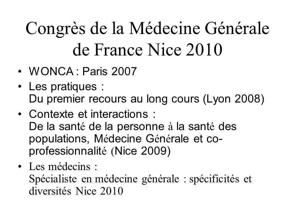 Congrès de la Médecine Générale de France Nice 2010