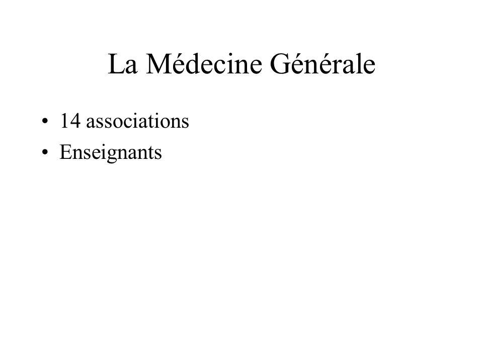 La Médecine Générale 14 associations Enseignants