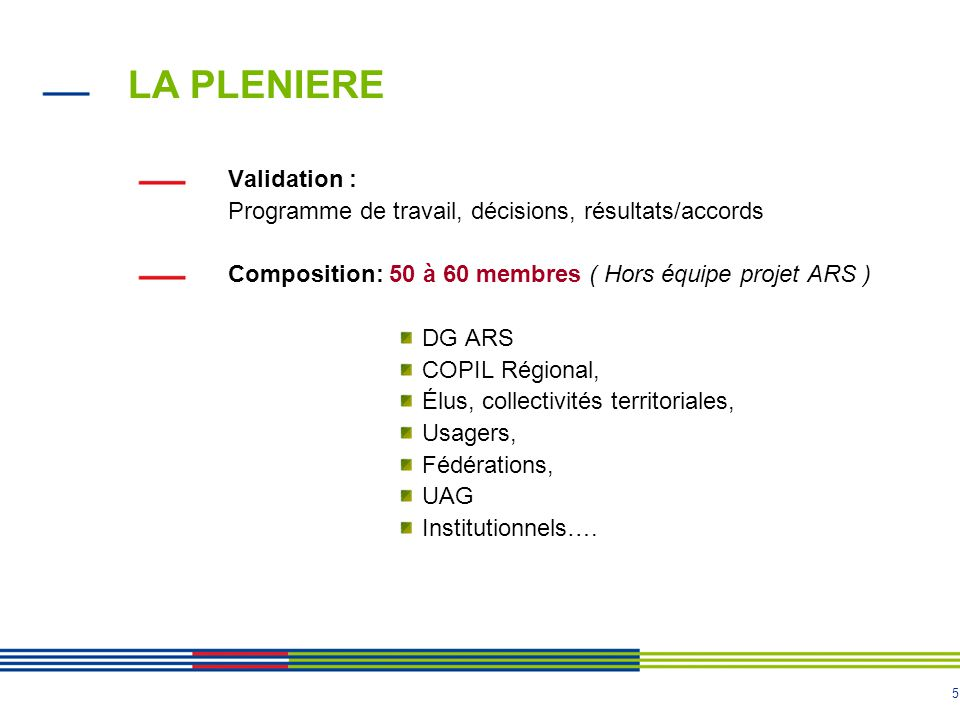 LA PLENIERE Validation :