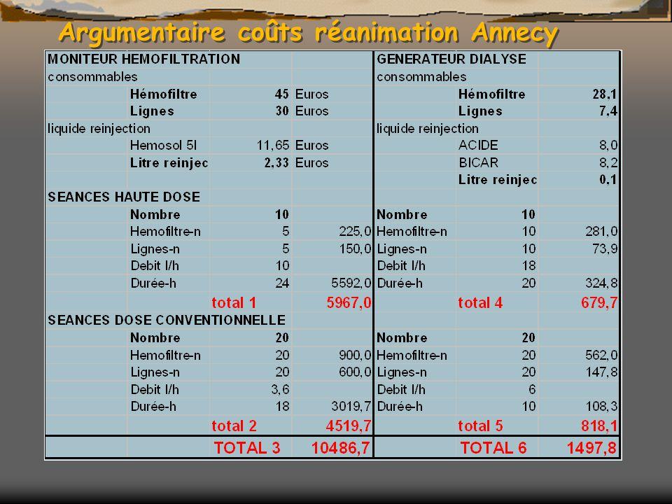 Argumentaire coûts réanimation Annecy