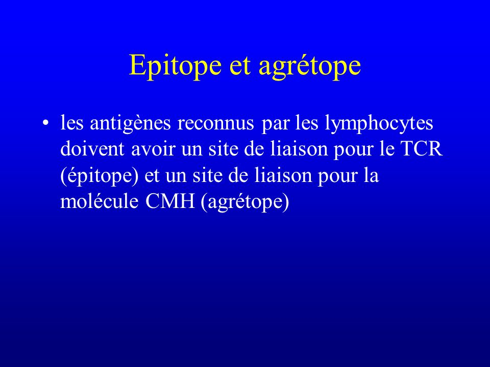 Epitope et agrétope