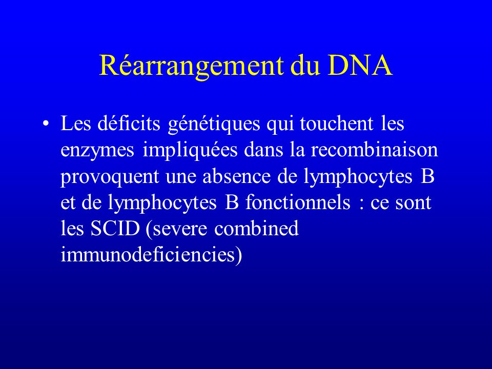 Réarrangement du DNA