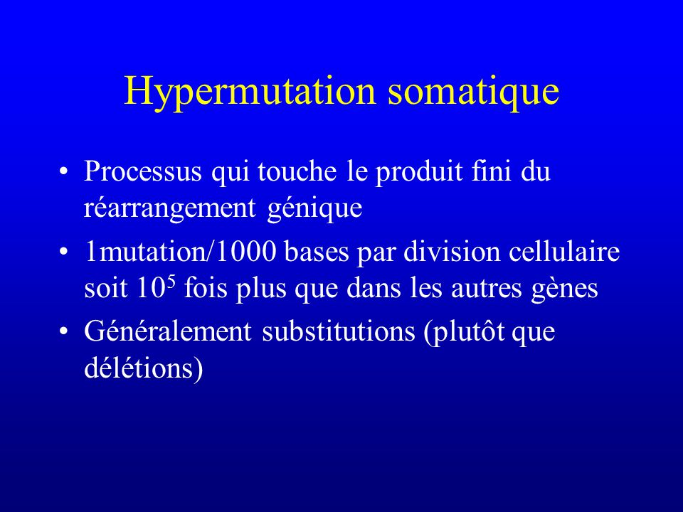 Hypermutation somatique