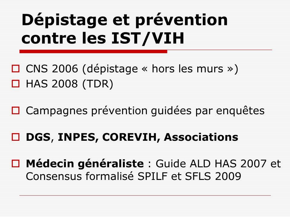 Dépistage et prévention contre les IST/VIH
