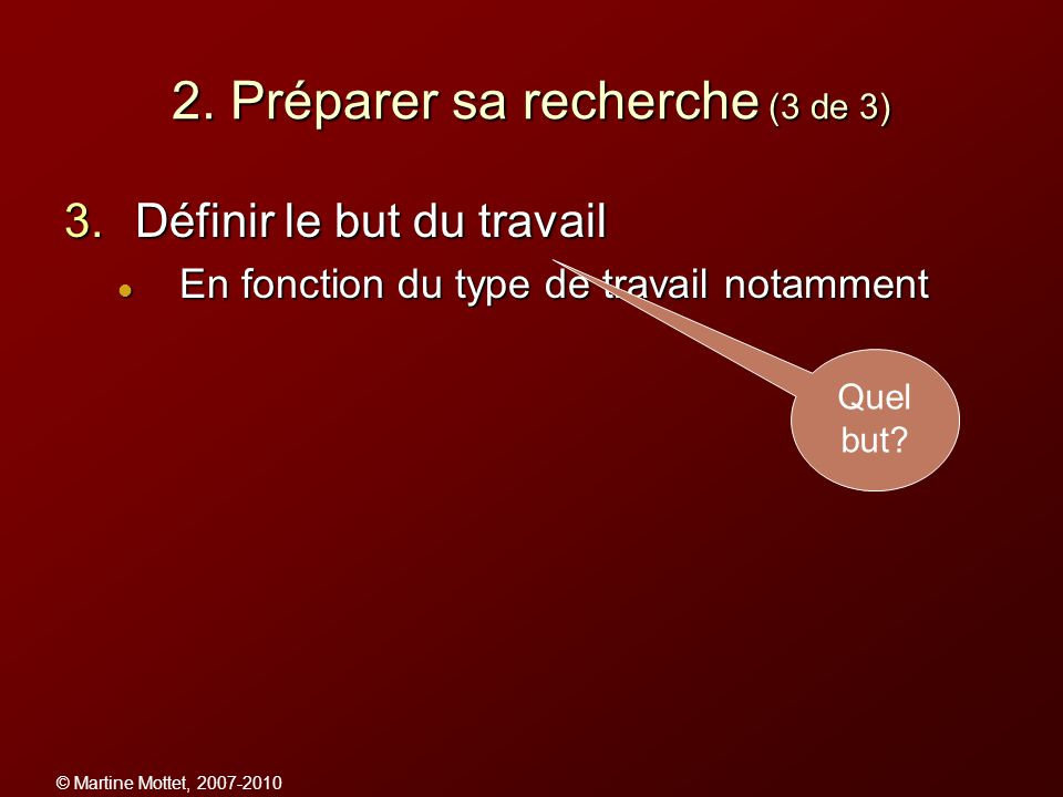 2. Préparer sa recherche (3 de 3)