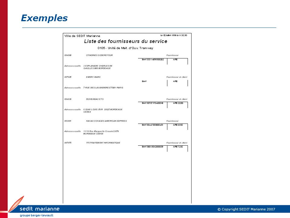 Exemples IBM Confidential