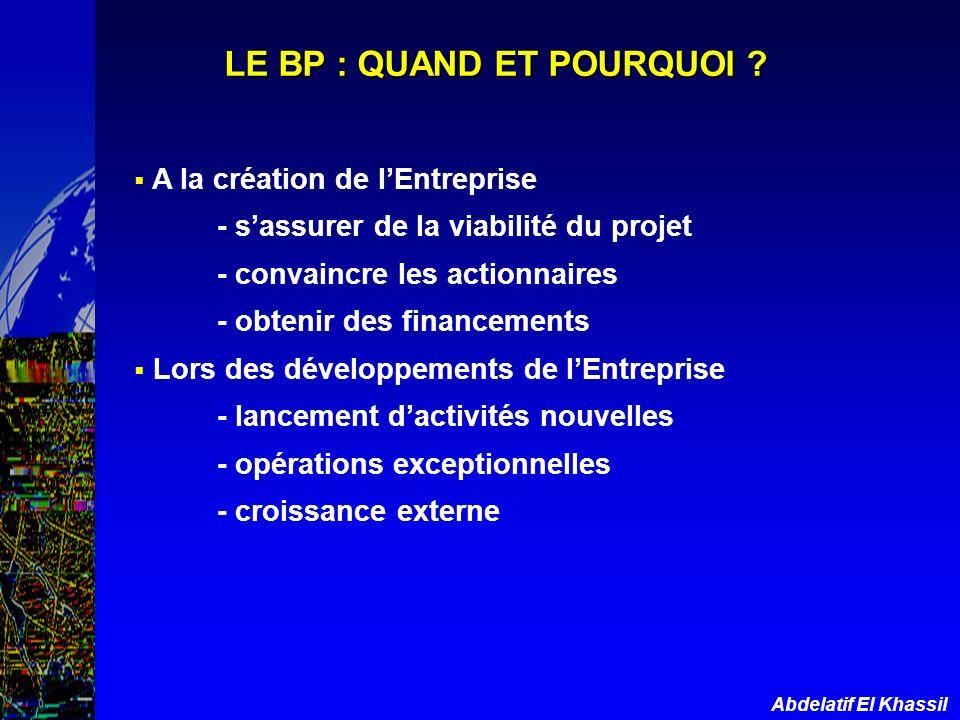 LE BP : QUAND ET POURQUOI