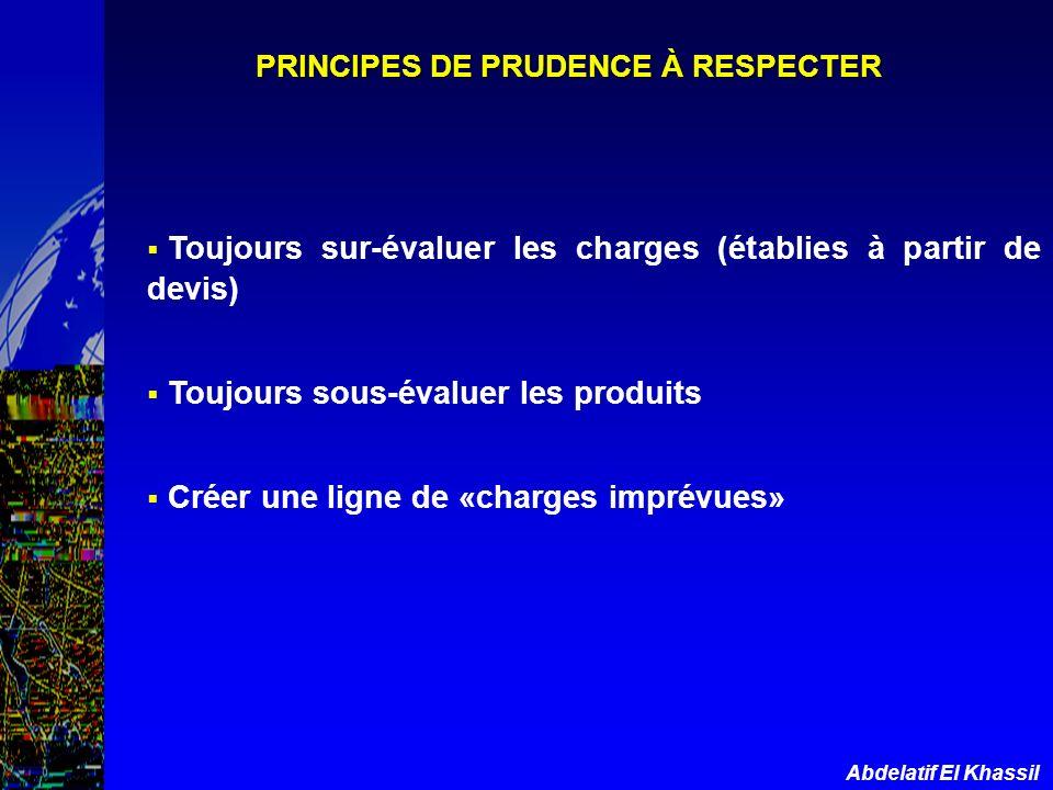 PRINCIPES DE PRUDENCE À RESPECTER