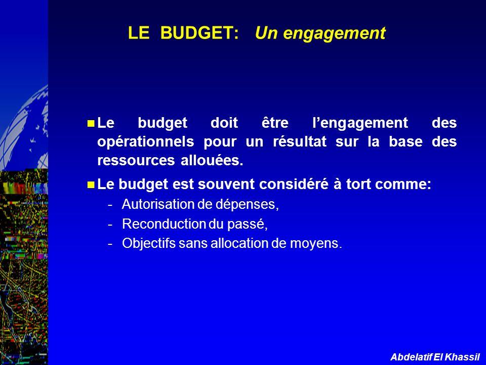 LE BUDGET: Un engagement