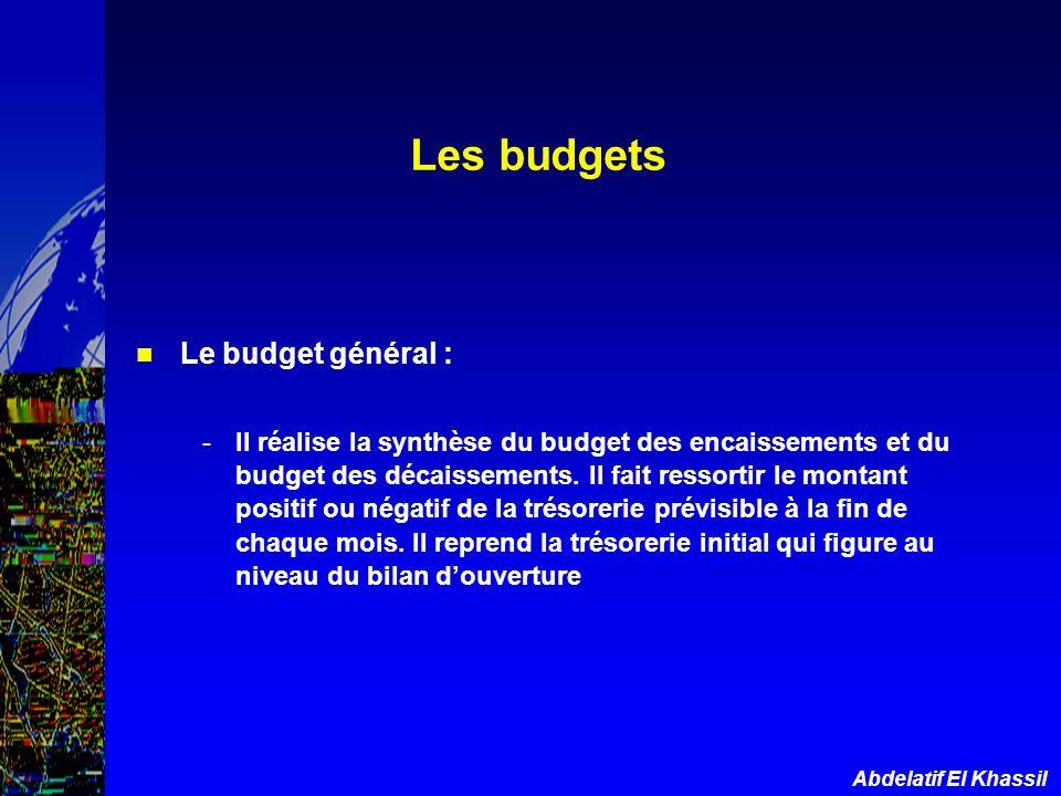 Les budgets Le budget général :