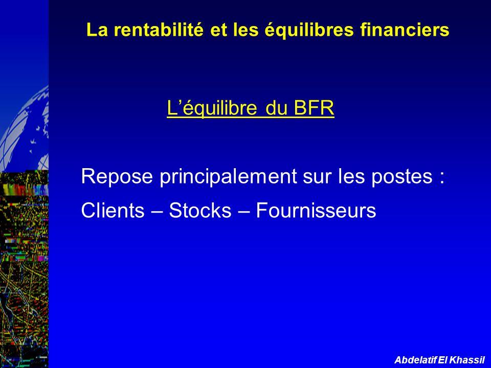 La rentabilité et les équilibres financiers