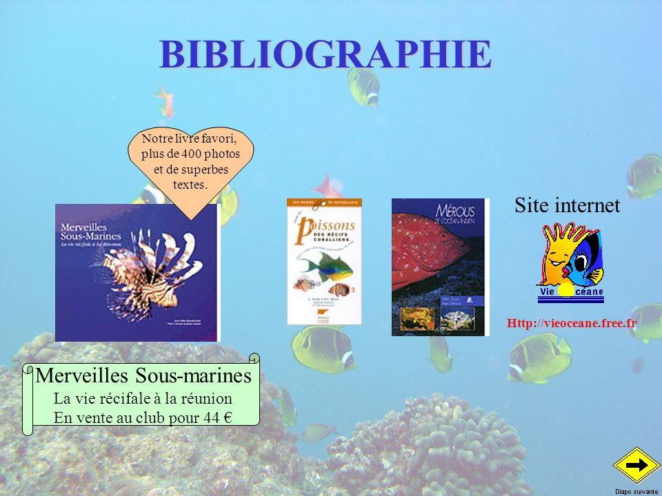 BIBLIOGRAPHIE Site internet Merveilles Sous-marines