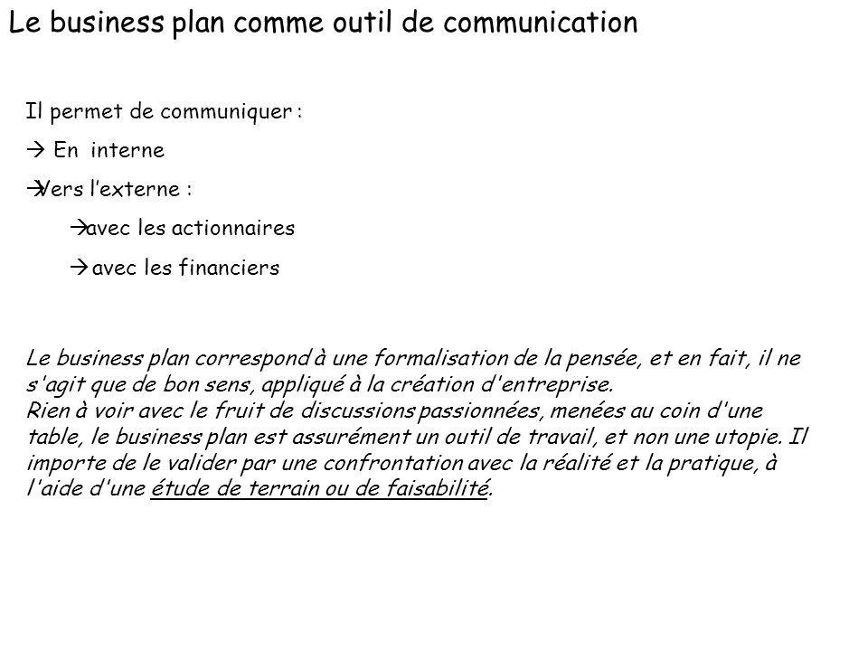Le business plan comme outil de communication