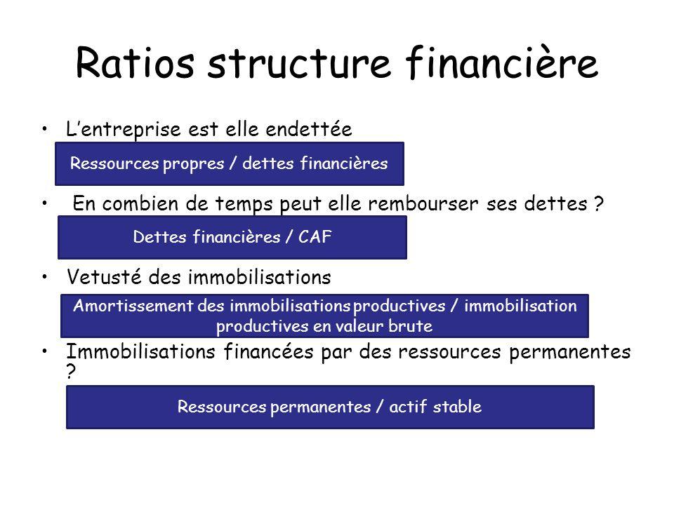 Ratios structure financière