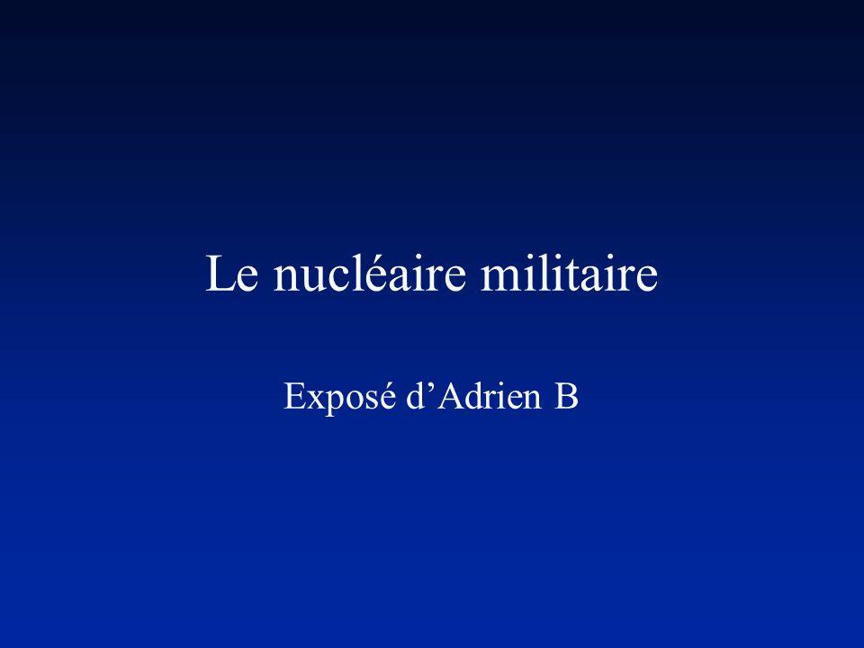 Le nucléaire militaire