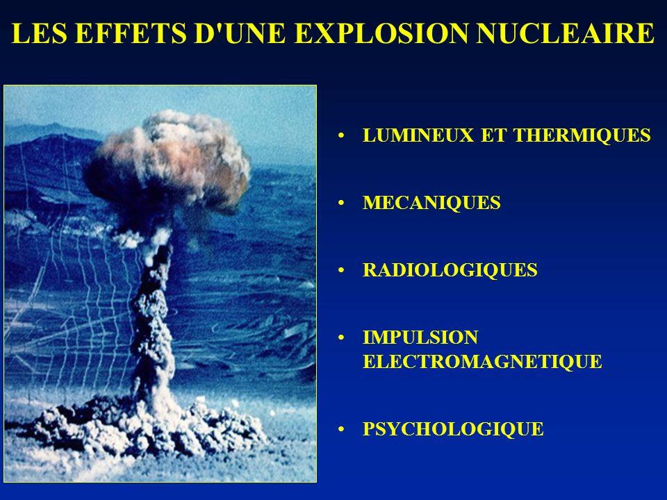 LES EFFETS D UNE EXPLOSION NUCLEAIRE