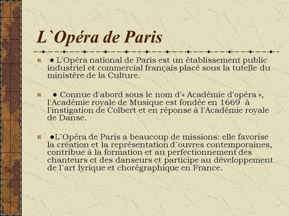 L`Opéra de Paris